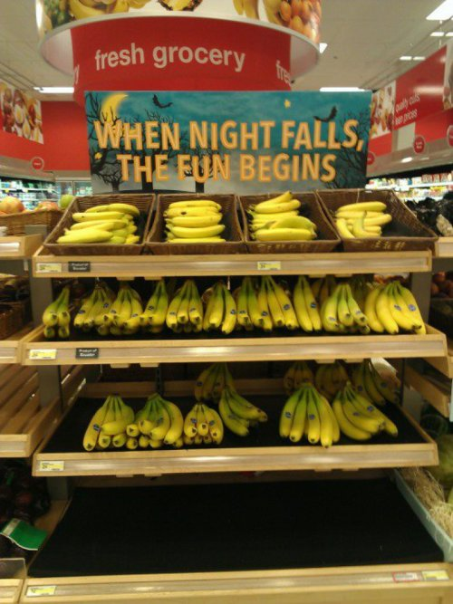Target Sells Bananas for Night-Time Fun Target, you're trying to seduce me.