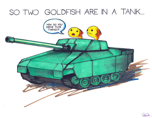 browsethestacks:  So Two Goldfish Are In A Tank… by arseniic  This is literally the only joke I know and recite whenever anyone asks me for a joke. It's a little better without the visual aid.