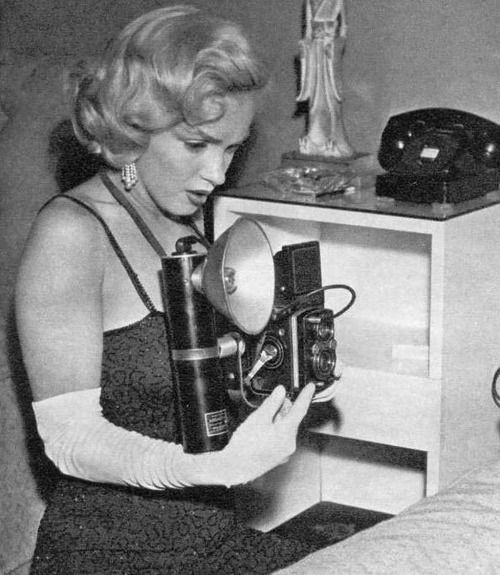 #Marilynettes ~ Marilyn Monroe being fascinated on the other side of the lens. [1953 by Earl Wilson]