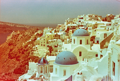 Oia, Santorini, Greece | Shot with a Nikon FM2 and Revolog 600nm film