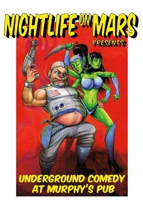 Tonight: Nightlife On Mars @ Murphy's Pub. 217 Kearny St. SF. 8pm. Free. Featuring Dave Thomason, Casey Ley, Jessica Sele, Ivan Hernandez, and Adam McLaughlin. Hosted by Red Scott.   On September 13th five years ago, Hurricane Ike made landfall on the Texas Gulf Coast of the United states, and five years later on the same day five plus one comedians join in the basement of an Irish Pub for a hurricane of comedy! The Free Show Downstairs is a monthly comedy show produced on the second Thursday of the month by Nightlife on Mars member Red Scott. This month TFSD features: HEADLINER Dave Thomason - SF Sketchfest, Aspen Rooftop Comedy Festival, NPR's Snap Judgement along with Casey Ley - SF Sketchfest, Bridgetown Comedy Festival Jessica Sele - 1st place in Washington University's Last Comic Standing, Hot Mess Shit Show Ivan Hernandez - Florida Supercon, Bridgetown Comedy Festival Adam McLaughlin - Wackygamer, Couple of N3rds, Animal Trash and host Red Scott - SF Sketchfest, co-creator of podcast Boars Gore and Swords Draft beers are $1 off during our shows, and Murphy's has an awesome selection!  Show takes place in a private room in the lower level of Murphy's Pub, 217 Kearny St (b/t Sutter and Bush).