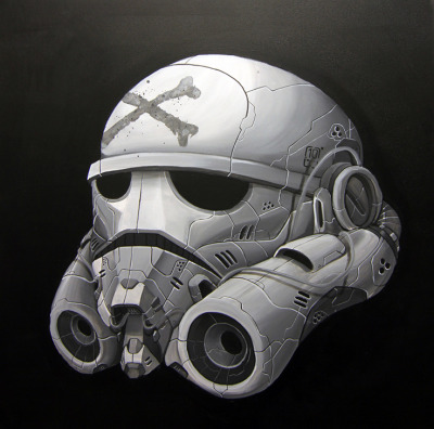 Storm Trooper (2012) - Acrylic on canvas© Clogtwo