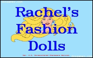 """Welcome to Rachel's Fashion Dolls!""  I remember playing this on our Compaq! I'm going to download it!"