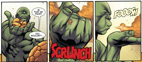 Incredible Hulk #3 Volume 12  Hulk always steals the scenes. Also, Ben's face.