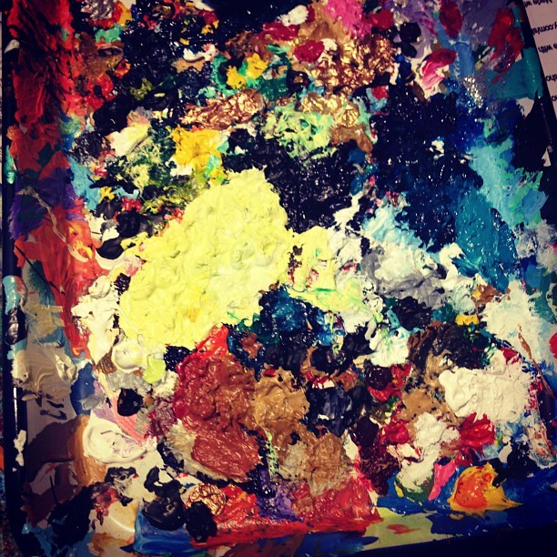 Paint your heart out::still going #theexotickaleidoscope  (Taken with Instagram)