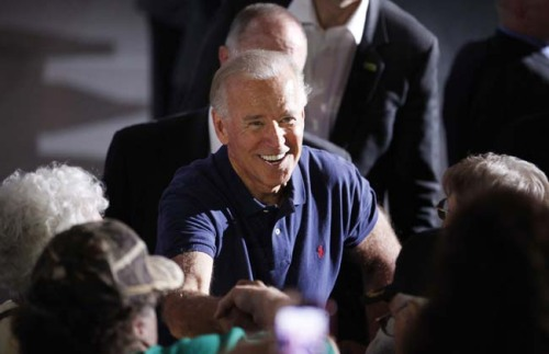 Vice President Joe Biden in Eau Claire, Wisconsin. Photo: Stacy Bengs/AP