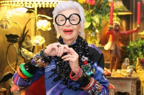 Because You Can: Iris Apfel  A master class in dressing fearlessly from our favorite Fairy Grandmother.