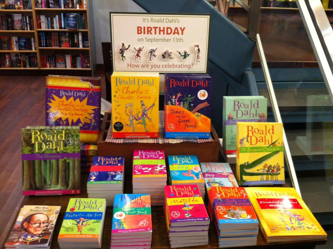 Happy Birthday Roald Dahl! Our childhoods would have been bland and sugar-coated without you.