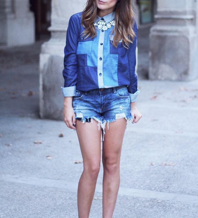 Blouse: Asos / Shorts: Zara / Necklace: Forever21  (image: dulceida)
