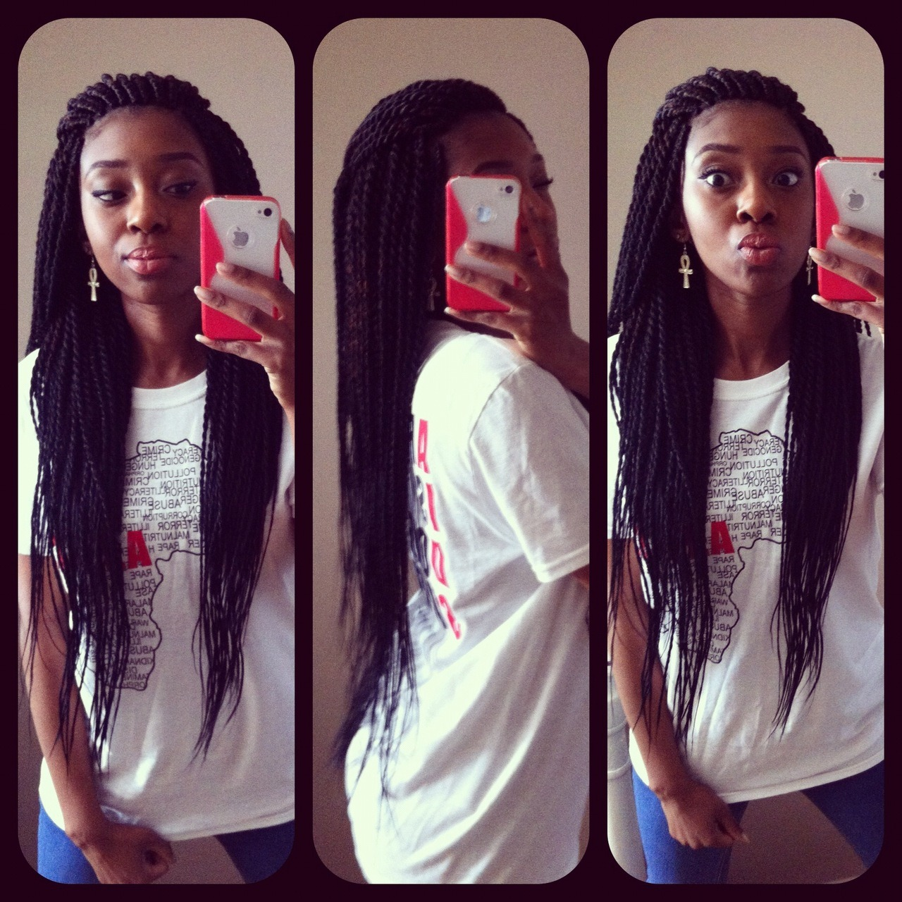 My yearly set of Senegalese Twist : The Transformation   Shout out to my Braidstress  :)