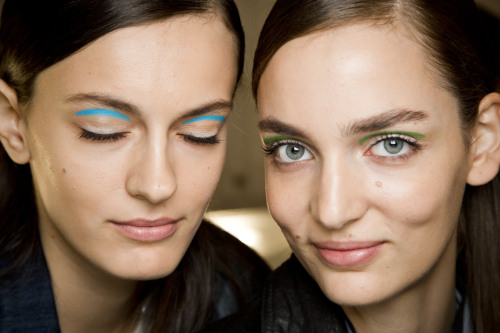 How the blue eyeshadow was applied (and how it looks!) at Michael Kors Photo: Mark Leibowitz
