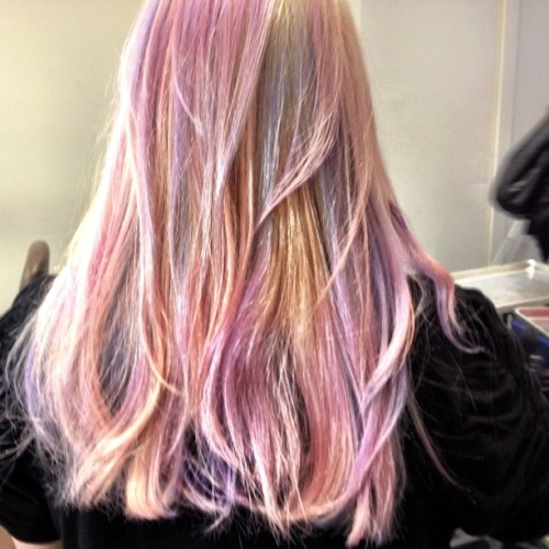 auracolorist:  @lotstar new my little pony hair #paintedbyme #auracolorist (Taken with Instagram)