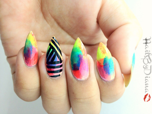 nailsbydiana:  31 Day Challenge-Rainbow Nails.