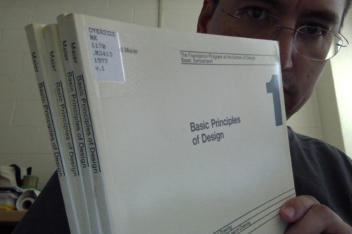 my archive homework: Basic Principles of Design by Manfred Maier, of the Kunstgewerbeschule, Basel Switzerland, 1975.