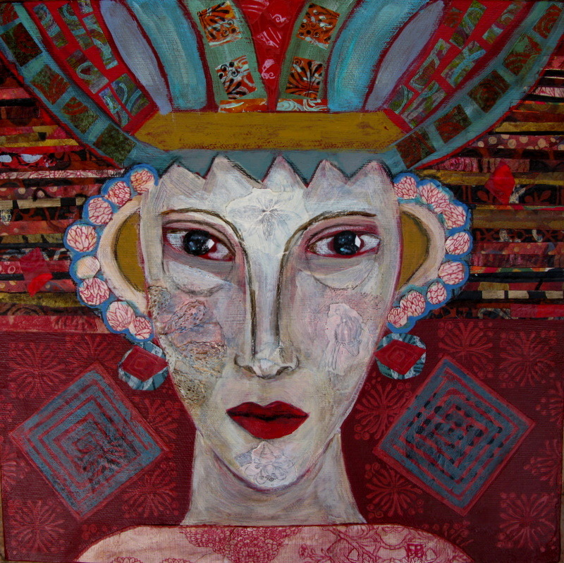 Françoise Barnes Mixed Media Collage on canvas