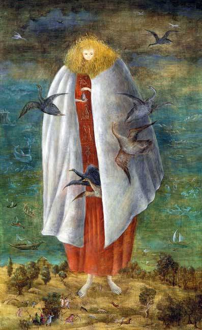 Leonora Carrington (1917 - 2011) BABY GIANT, 1947.