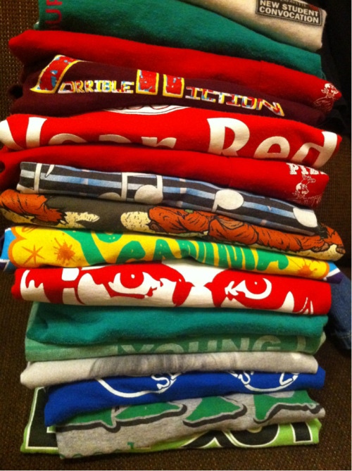 By far the most unsettling part of doing my laundry is folding my t-shirts.