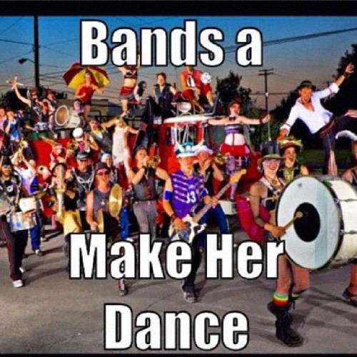 I knew someone was going to do this. Since I'm a band nerd, I can repost this. 😝 (Taken with Instagram)