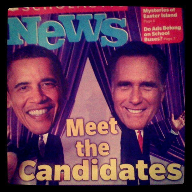 What my kids are learning in school! #election2012 #candidates2012 #barackobama2012 #kidnews #Obama2012 (Taken with Instagram)