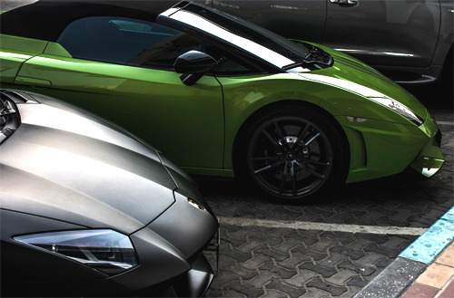 luxury-is-everything:  visualcocaine:  LP570 Performante & LP700 Aventador.