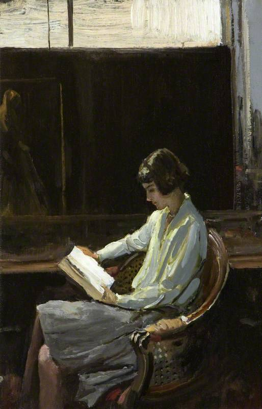 birdsong217:Sir John Lavery (Irish, 1856-1941) - Alice, 1919. Oil on board.