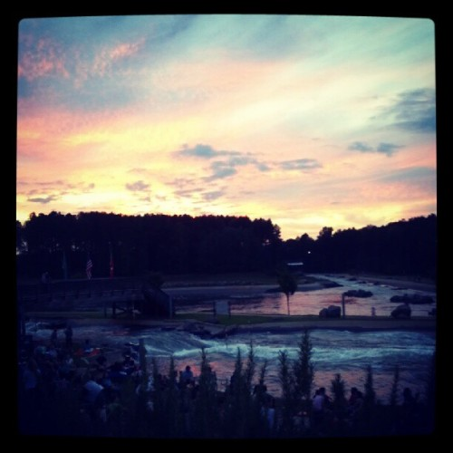 Sun set at the white water center for river jam #riverjam #sunset #whitewatercenter (Taken with Instagram)