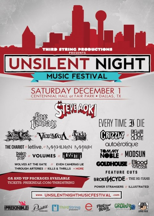 Third String Production announce Unsilent Night Music Festival.