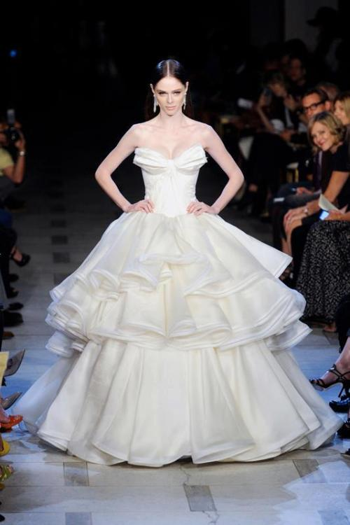 Coco Rocha   Zac Posen NYC Fashion Week  Spring Summer 2013