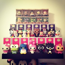 Doneski!! The Sanrio x Funko Pops are so awesome!! #disney #sanrio #hellokitty #mickeymouse #geeklife #funkopop #popwars #vinylmation  (Taken with Instagram)