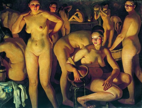 marasei:  Bath, 1913 Zinaida Serebriakova  man, my body twins existed all over paintings in the past