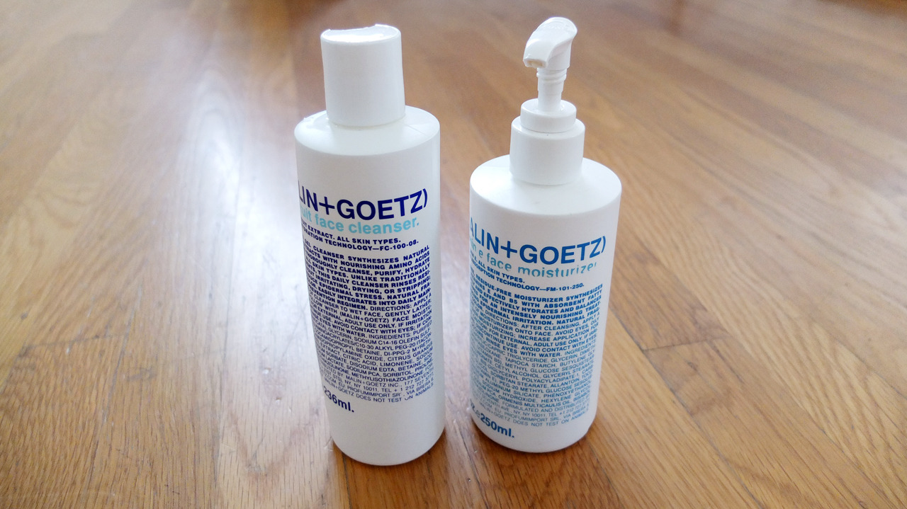 Malin+Goetz Grapefruit Face Cleanser and Vitamin E Face Moisturizer - I've tried all the brands out there, from cheap shit you find at Walgreens to the expensive stuff they hawk at upscale apothecaries. I used the Baxter of California jawnz for a time, but isn't as good as Malin+Goetz and I eventually switched over. The cleanser is effective but not harsh on your handsome face, and the moisturizer never leaves your face oily. This works best as a combo otherwise the cleanser will dry out your face. ($30 and $45)