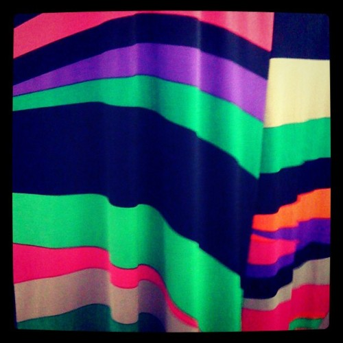 Stripes of color - coworkers dress! #TheColors #dress #fashion #pattern #textile #style #Summer #NewYork #NY #patternhunter #PatternHuntress.com (Taken with Instagram)