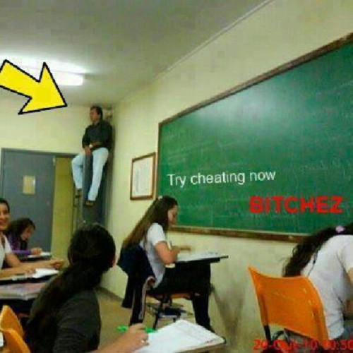 kennybrown014:  Cheaters never win #cheaters #school (Taken with Instagram)