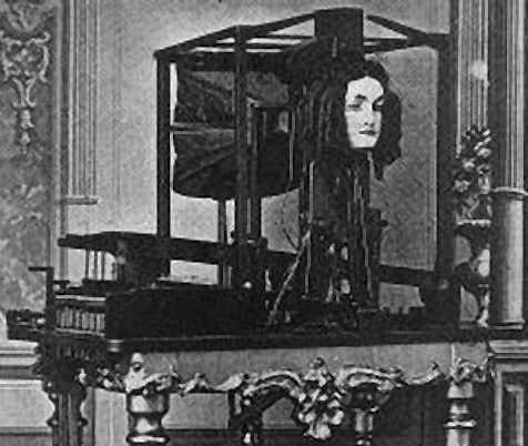 """Euphonia"" - The Talking Machine Joseph Faber, a German immigrant, invented a strange and scary looking talking machine which he named Euphonia. In December 1845, Joseph Faber exhibited his invention at the Musical Fund Hall in Philadelphia. This machine consisted of a bizarre-looking talking head that spoke in a ""weird, ghostly monotone"" as Faber manipulated it with foot pedals and a keyboard. He was frustrated at the lack of interest in his invention and thought Europe a better place to exhibit it. In 1846, he accompanied P. T. Barnum to London where ""Euphonia""  was put on display at London's Egyptian Hall. The exhibit drew an endorsement from the Duke of Wellington and remained a part of Barnum's exhibits for the next several decades. The financial returns for Faber, however, were extremely low. He would die in the 1860s without achieving the fame or fortune he sought.  Faber would not live to witness the most important outcome of his invention. By a curious twist of fate, one person who happened to see the talking machine in London in 1846 and come away deeply intrigued was Melville Bell, the father of Alexander Graham Bell. Because of this, it is believed that Faber's invention greatly influenced the invention of the telephone."