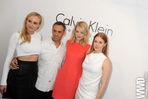 Diane Kruger, Francisco Costa, Emma Stone and Amy Adams.