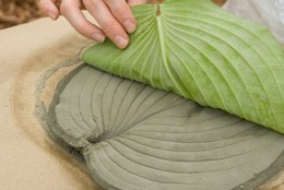 grandjunctionbroker:  Hosta-leaf stepping stones. Great idea!