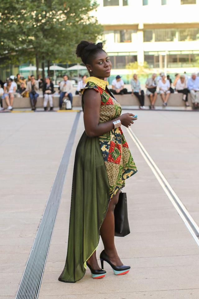 humansofnewyork:  Seen at Lincoln Center  O.O hello gorgeous.