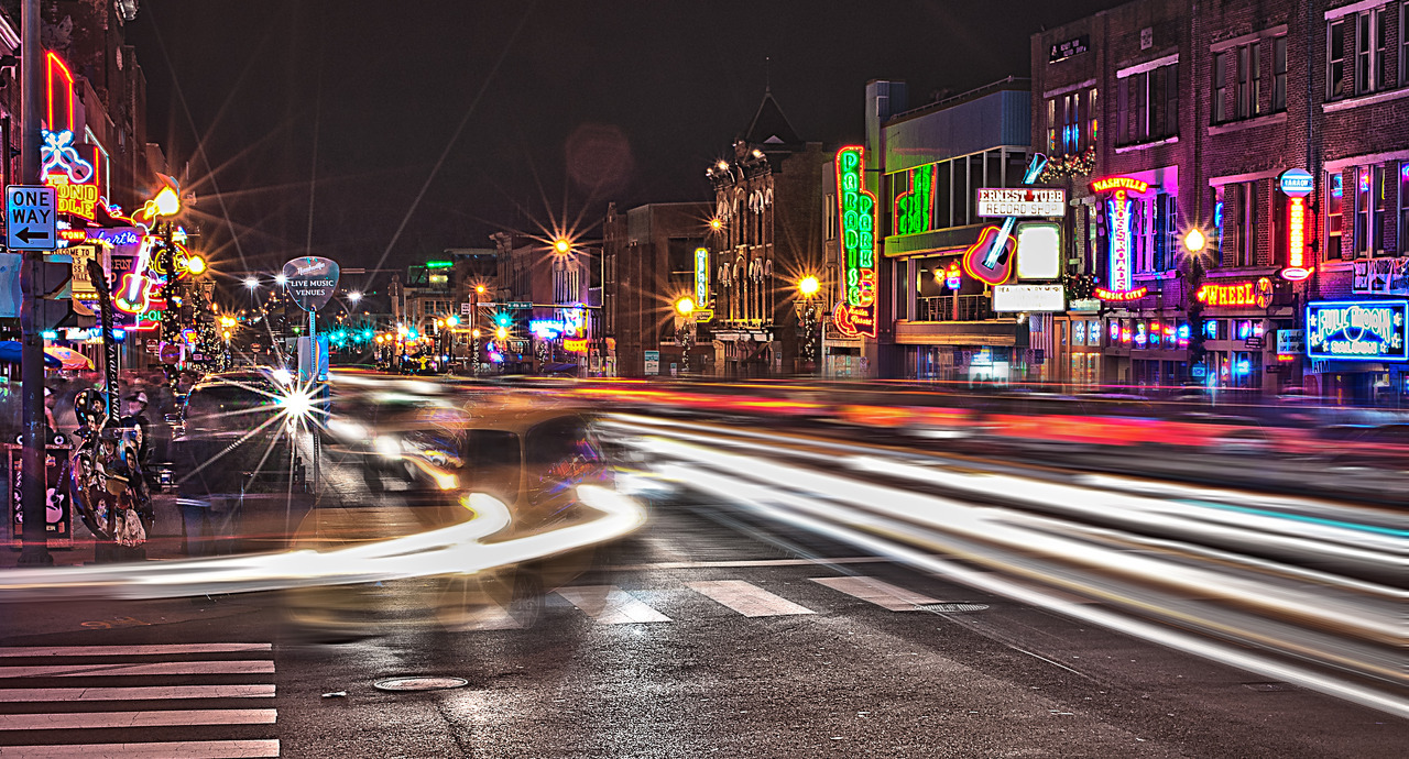 Broadway - Nashville, TN - Long Shutter Speeds -