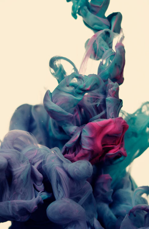snickersandsoda:  a due colori [inks mixing with water] - alberto seveso