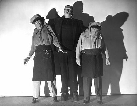 Things I have written: Abbott And Costello Meet Frankenstein (review) How many times have I seen this movie? I honestly don't know. I used to watch Abbott And Costello movies every Saturday morning at 10am on channel 19 out of Cincinnati and this one was in heavy rotation. (I maybe saw In The Navy more.) I remember thinking it weird then, in part because the end is more monster movie than comedy. And, watching it now, it is a weird movie. Does it make sense to put Abbott And Costello in a movie with a bunch of monsters? Not really. It's fun, though. And what I wouldn't have given to see Lou Costello and Bela Lugosi interact between takes. Why do I think they would not have been pals?