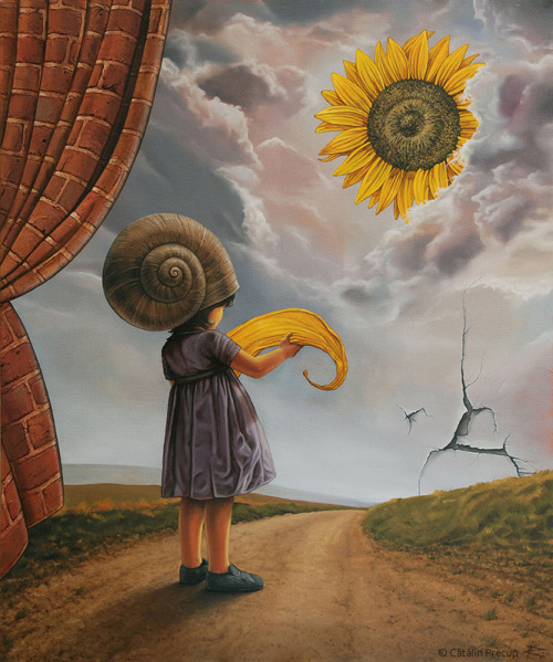 just-art:  A Ray of Sunflower Shine by Cătălin Precup Oil on canvas.