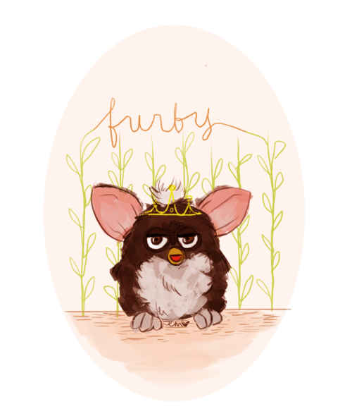 i drew jenn a furby because i love her. she's gonna frame it