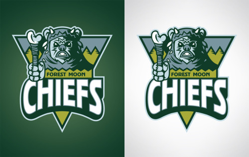 Forest Moon Chiefs Another Star Wars inspired sports logo design. You can pick them up as prints, t-shirts, and various phone and laptop accessories at Society6… www.society6.com/wanderingbert Use this link by Sunday to get free shipping on any of my products! http://society6.com/wanderingbert?promo=c9d757