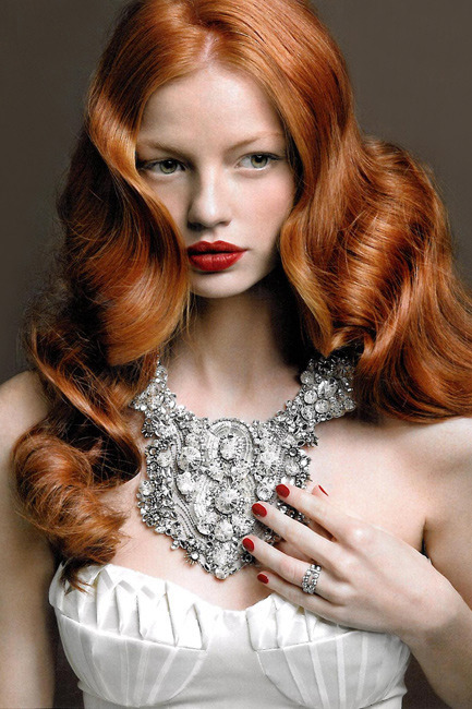 redheadmodellove:  Katerina Martinovska for Jenny Packham Jewelry