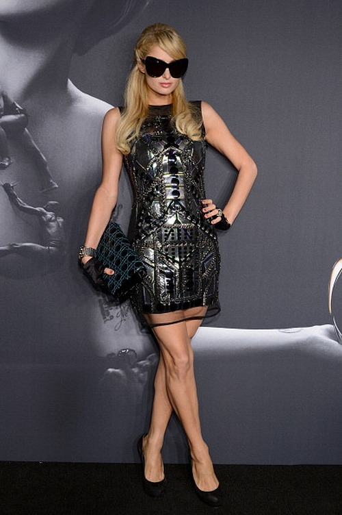 gagaroyale:  Paris Hilton attends Lady Gaga 'Fame' Eau de Parfum Launch Event at Guggenheim Museum on September 13.