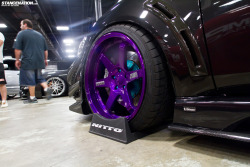 jdmlifestyle:  Purple TE37s x Evo X Photo Credits: Stance:Nation