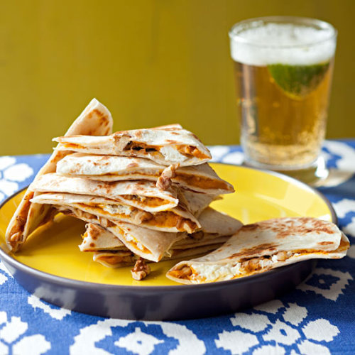 Pumpkin Quesadillas Try this Daily Bite when you're going meatless and not just on Mondays!