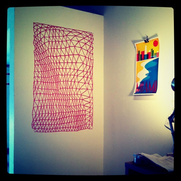 Irregular Mesh decal by Camila Leon (available at the Doodlers Anonymous Etsy shop)