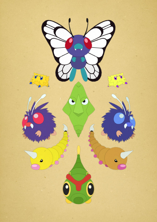 Paper Pokemon - Bug Type by ~everyonesname