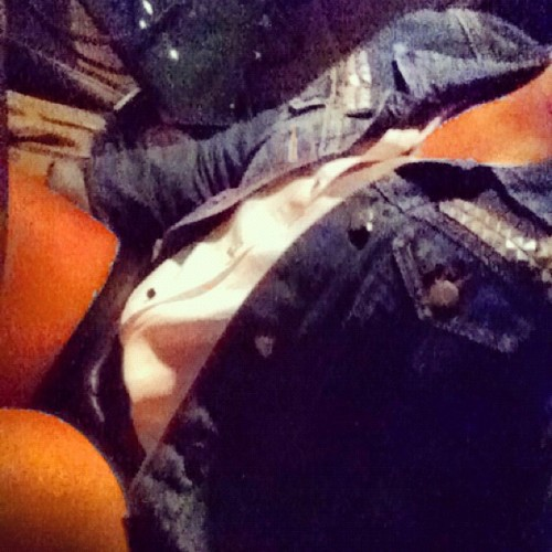 Leather ❤ Chiffon ❤ Jean (Taken with Instagram)